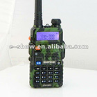 Camouflage cost-efficient Dual Band 5W 128CH UHF VHF walkie talkie Two way radio