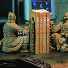6007-82Antique Warrior Book Ends