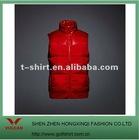 2012 men's down material red color turtleneck fashion vest