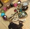 Fashion vintage peacock plume heart bracelet jewelry beautiful tassel bangle