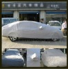 PVC Coating Waterproof Car Outdoor Full Cover Layer Silver Color Size S-XXL