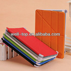newest Fashion PU leather pouch smart case for iPad mini