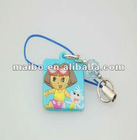 cute design plastic phone strip, cell phone strap
