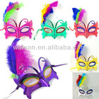 Feather masquerade mask, party mask