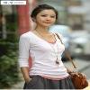womens fashion stylish sweet long sleeves cotton mini dress