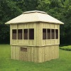Outdoor wood arbor ligneous gazebo wood gloriette wooden kiosk M-900