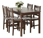 solid pine dining set with 4 charirs