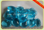 aqua blue Irregular color of frosted surface glass arts
