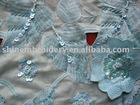 fashionable african lace with handwork