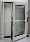 WINDOW WITH BUILT IN BLINDS, BUILT IN BLIND WINDOW, ALUMINUM WINDOW WITH BUILT IN BLINDS, ELECTRIC OPERATION BUILT IN BLINDS