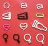 Nylon coated bra adjuster,bra ring and bra strap hook