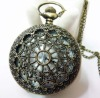 Fashion 2012 Newest Necklace Pocket Watch, Quartz Movement, FD47006, 47 x 47mm Archaize Antique Bronze Pocket Watch