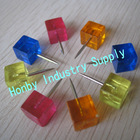 20mm Transparent Color Square Push Pin