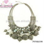 Fashion Vogue Design Metal Balls Chunky Necklace - PYNK6190