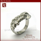 Elegant 316L old-fashioned stainless steel ring
