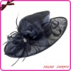 2012 New Design Black Sinamay Wedding Hat