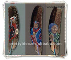 PAINTING FEATHER ,Hand Painted for hair feather and hair decoration