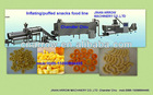 puffed snacks extruder machine/inflating snacks/poped corn/corn puffed food machine