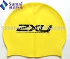 Slicone swimming cap for adults with logo hot-sale