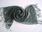 100% wool men's crinkle scarf