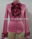 2012 New ! Fashion Ladies Blouse Red Mature Design