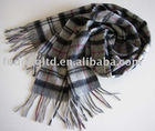 100% cashmere checker design scarf