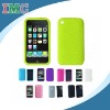 Green Textured Silicone Skin Soft Cover Case for Apple iPhone 3G 3GS (IMC-TOIPH-0265)
