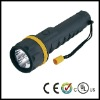 With 3 x D dry batteries Rubber LED Flashlight