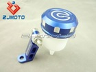 Motorcycle CNC Billet Brake / Clutch Fluid Reservoir With Mounting Bracket CRF Pitbike Monkey KLX DW DR RM XR