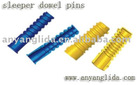 plastic tube /railway parts/embedded part