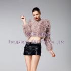 BG22802 Genuine Knitted Lamb Fur Jackets OEM Wholesale/Retail