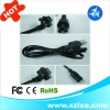 US pvc three core flat cable 1.2M/1.5M/1.8M for laptop