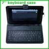 7inch tablet PC leather keyboard case