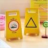 warning sign memo pad