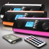 LCD display, Rotome control FM Radio & Portable speakers for SD,Udisk,MP3,USB, Color:Purple