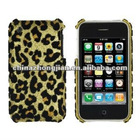 Hard Leopard Spots Case for Apple iPhone 3G / 3GS - Gold