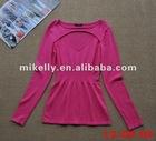 Hottest fashion stylish pink cotton women tops