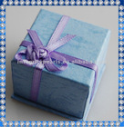 blue paper gift box for earring or ring