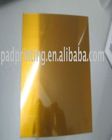 Hot foil stamping polymer plate with steel pase