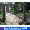 Decorative blue stone/blue limestone gatepost