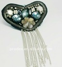 Fashion handmade beaded epaulet with tassel