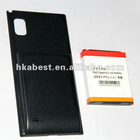 for LG F160L/optimus LTE2 4300 mAh long lasting battery and battery cover