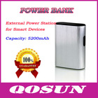 5200mAh portable power bank for Smart Devices