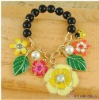Stretch enamel alloy floral pearl accessories beads bracelet