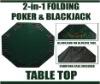 2 in 1 Folding Poker & Blackjack Table Top