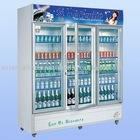 vertical freezer showcase
