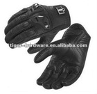 100% NEW Leather/Carbon Gloves for Motorcycling Icon gloves - black