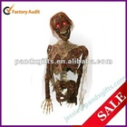 Burnt skeleton with led function for halloween deco
