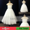 Real sample lovely tulle cap sleeve beaded flower girl dress patterns