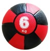 rubber medicine ball , red and black, 6kg